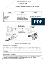 Electronic Fuel Control Actuator Circuit - Short Circuit