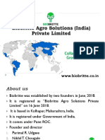 Biobritte Agro Solutions (India) Private Limited- Worldwide collaboration Opportunities for world
