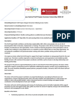 Profi Internship 2019 - Fundraising Internship
