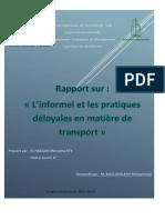 L'informel et les pratiques déloyales en matière de transport.docx