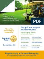 Trumbull Rotary 2019 Golf Flyer