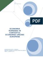 Economia Romaniei in Contextul Economiei UE