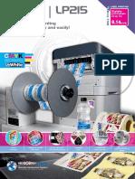 lp215 label printer brochure