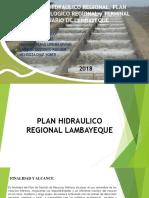 Plan Hidraulico Regional Plan Hidrologico