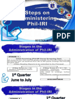 1 Steps on Administering the Exit Assessment for Phil IRI