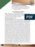 PRINCIPIO DE CONVALIDACIÓN Y TRASCENDENCIA en Bolivia