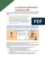 Uso del Archivo - Mundial de Futbol Russia 2018, Quiniela.xls.pdf