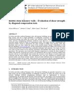Jelena Milosevic Et Al - Rubble Stone Masonry Walls (2012, Paper)