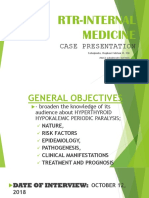 Hyperthyroid Periodic Paralysis