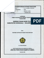 Geothermal Database Report of Pulu Geothermal Area, Donggala District, Center Sulawesi Province