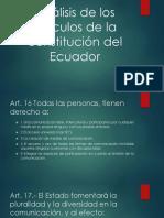 Análisis de Los Artículos de La Constitución Del
