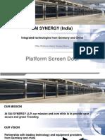 PSD Platform Screen Doors