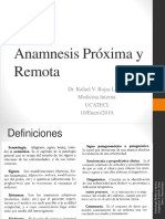 Anamnesis Proxima y Remota. Examen Fisico