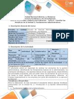 Guía de Actividades y Rubrica de Evaluación - Tarea 3 - Estudiar las temáticas de la Unidad 2. Fundamentos Administrativos