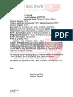 Informe Paciente Ketherine Ingrid Añaviri Figueroa a Traumaclinic