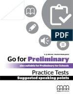 Go for Preliminary Speaking
