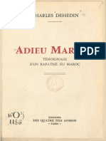 Charles Dehedin - Adieu Maroc ! Témoignage d'un rapatrié du Maroc (1959).pdf