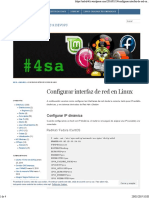 Conf Red Linux
