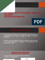 Determinación de Propiedades, Mediante El Diagrama Esfuerzo-Deformación