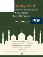 An Abridgment of the Most Famous and Important Weak Ahadith Related to Fasting.pdf