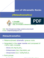 Metamorphism of Ultramafic Rock
