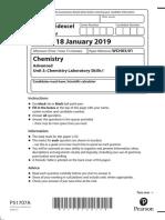 January 2019 IAL QP Unit 3 Edexcel Chemistry a Level