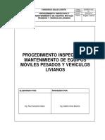 PROCEDIMIENTO INSPECCIÒN Y MANTENIMIENTO DE EQUIPOS MÒVILES PESADOS Y VEHÌCULOS LIVIANOS.docx