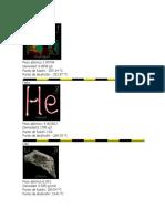 elementos de la tabla periodica