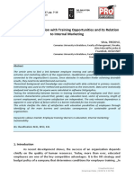 [HOLISTICA  Journal of Business and Public Administration] Employee Satisfaction with Training Opportunities and its Relation to Internal Marketing.pdf