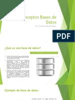 Conceptos Bases de Datos