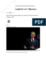 Sigan Alzando La Voz Discurso Barack Obama