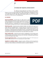 Aztecsoft Financial Results Q1-09 Press Release