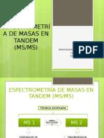 Espectrometría de Masas en Tandem