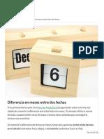 Diferencia en Meses Entre Dos Fechas - Ayuda Excel