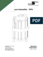 HPU - Pressure Intensifier