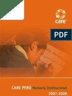 Memoria Institucional CARE Perú 2007-2008