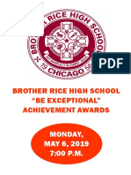 """Brother Rice """"Be Exceptional"""" Achievement Awards - Spring, 2019"""