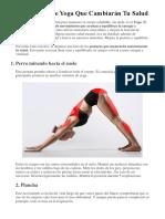 15 Posturas De Yoga Que Cambiarán Tu Salud.docx