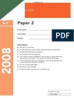 KS3 Science 2008 Paper 2 Level 5-7