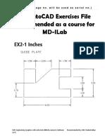 Auto CAD Exercise