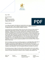 John Horgan's letter to the B.C. Utilities Commission