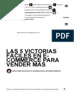 Las 5 Victorias Fáciles en E-Commerce Para Vender Más - Blog Ecommerceblog Ecommerce