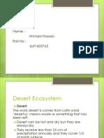 Desert Ecosystem Ahmad