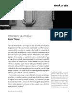 Günter Weimer - O Conceito de Art Deco (2010, Publicação)