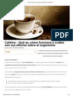 Cafeína_ Qué Es, Cómo Actúa y Sus Efectos en El Organismo