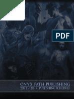 Onyx Path Gen Con 2013 Brochure