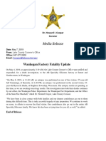 Waukegan Factory Fatality Update
