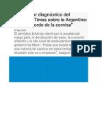 Politica Actual Argentina