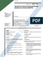 NB 1345 - Sub-base ou base de brita graduada.pdf