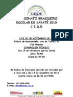PROGRAMAÇÃO  BRASILEIRO ESCOLAR DE KARATÊ 2010